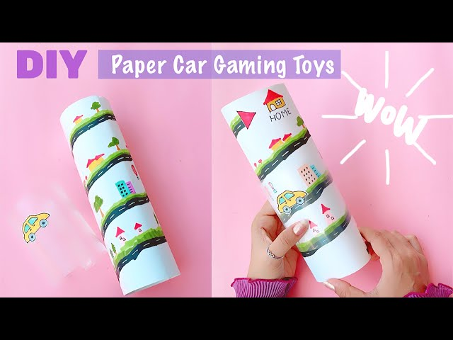 DIY Paper Gaming Car Races | Easy way to make paper toys | Car Races