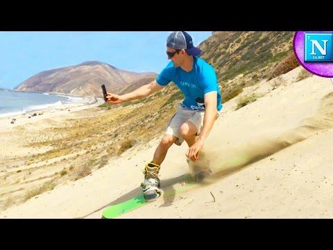 SAND-BOARDING Malibu California
