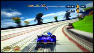 Xbox 360: Sonic & SEGA All Stars Racing: Gameplay Part 1 (HD)