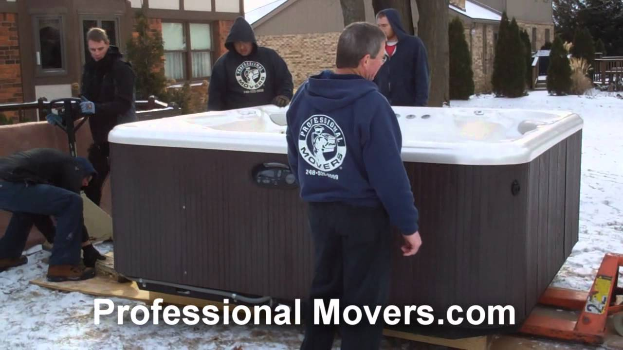 Professionalmoverscom How To Move A Hot Tub Youtube