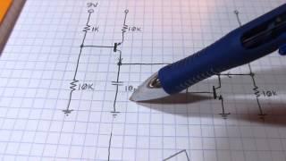 #105: More Circuit Fun: Simple 3 transistor sawtooth generator / oscillator