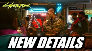 Cyberpunk 2077 - NEW DETAILS - First Person, Player Choice, Skills, Classes, Dialogue