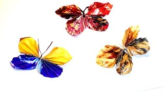 Butterflies from paper. Crafts with own hands. Бабочки из бумаги. Поделки своими руками.