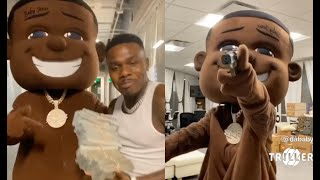 DaBaby Signs New Member To His Record Label A Life Size Puppet Of Himself