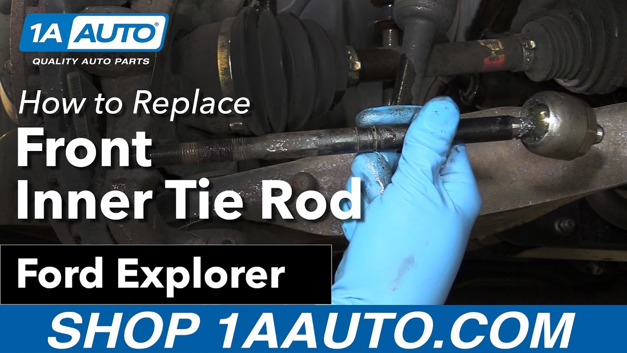 How To Replace Front Inner Tie Rod 06 10 Ford Explorer Youtube