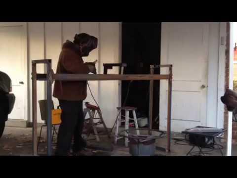 Welding A Firewood Log Rack