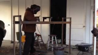 Welding A Firewood Log Rack