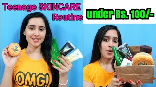 Teenagers & School Girls Skincare Routine Under Rs. 100/- | Affordable Skincare for Girls |