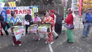 2013.12.08世直し雷大行進(東部共同)、浅草にて。