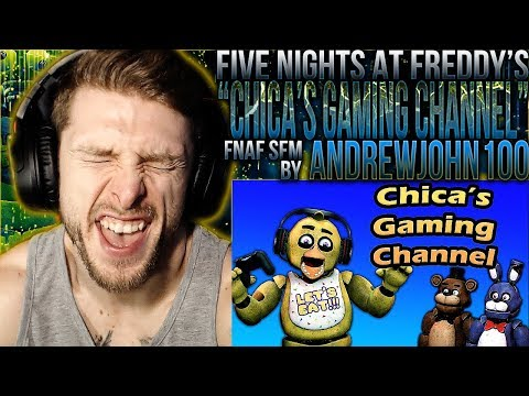 """Vapor Reacts #932   [SFM] FNAF ANIMATION 'Chica's Gaming Channel"""" By AndrewJohn100 REACTION!!"""