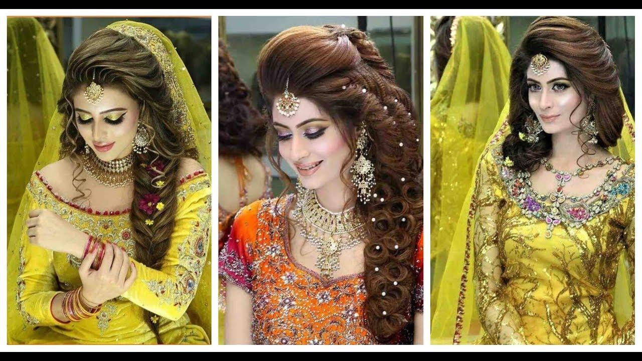 best mayon & mehndi hairstyle 2019-2020 | best pakistani/indian bridal mehndi hair style |