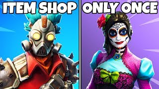 Fortnite Skins that Only RELEASED ONCE in the ITEM SHOP! (Fortnite Rare Skins)