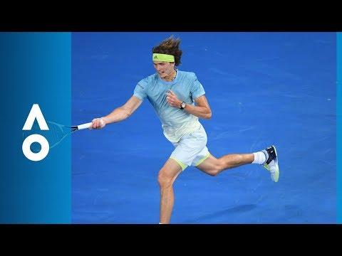 Chung causes Zverev's unrelenting racquet smash (3R) | Australian Open 2018