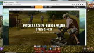 Archeage Erenor Tier Weapons NA/EU cost guide Pre-3.5