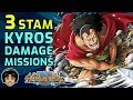 Walkthrough for 3 Stamina Burst Damage Missions! (15 Million Kyros) [One Piece Treasure Cruise]