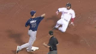 Rays middle infielders turn a FANTASTIC double play