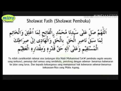 Suara Merdu Sholawat Fatih
