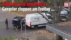 Geldtransporter Überfall in Berlin von Passanten gefilmt