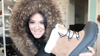 WINTER GEAR TRY ON-LUXURY MACKAGE COAT & SOREL BOOTS