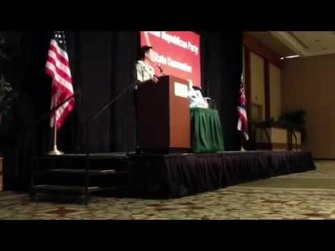 Congressman Charles Djou at Hawaii GOP Convention