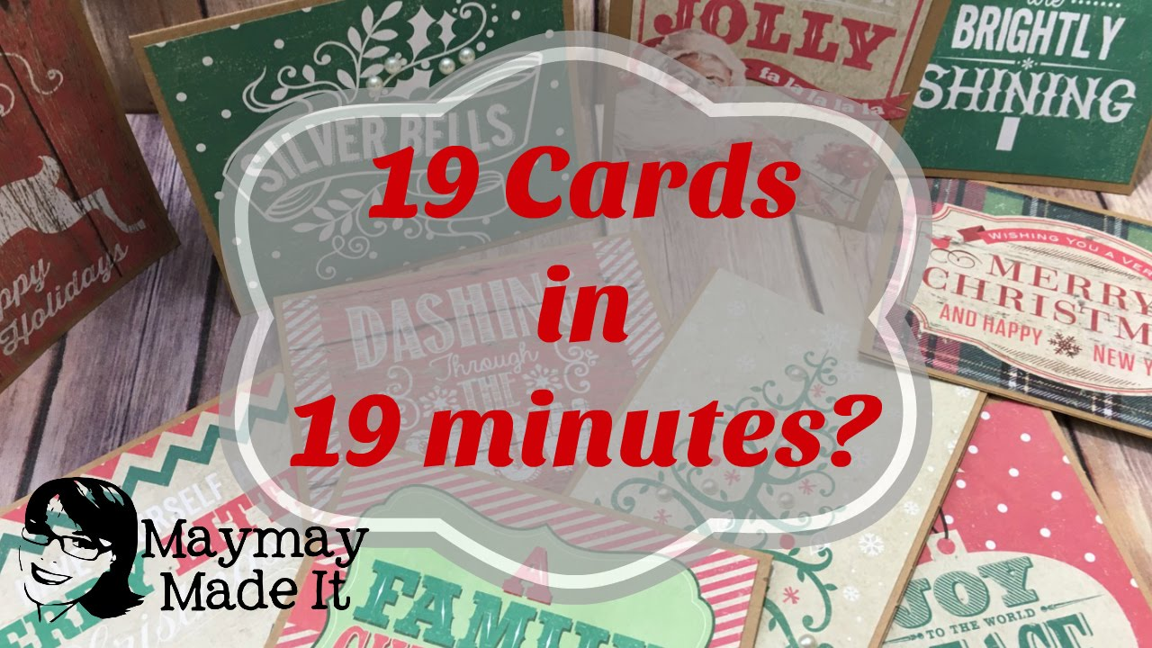 How To Make Super Fast Christmas Cards Youtube