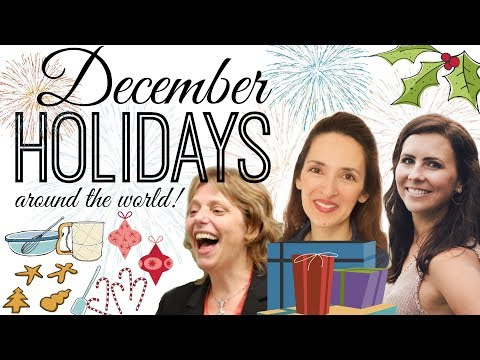 December Holidays around the World: A Special English Vocabulary Lesson