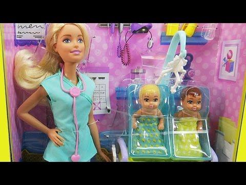 Barbie Girl Baby Doctor | GIFT UNWRAPPING Twin Babies