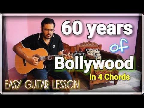 60 Years Of Bollywood In 4 Open Chords - ScoopWhoop Version | Easy Guitar Lesson For Beginners