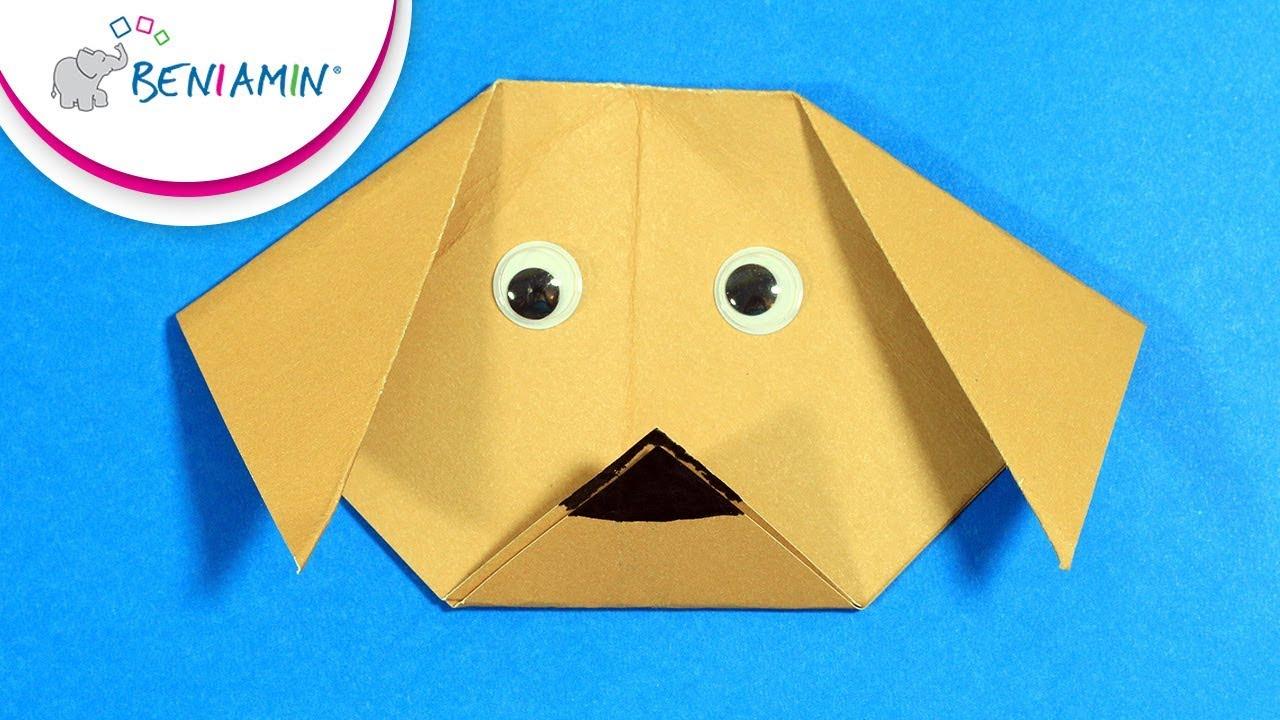 Pies Origami Głowa Psa Diy Beniamin Youtube