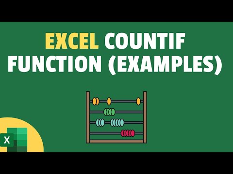 COUNTIF Formula in Excel
