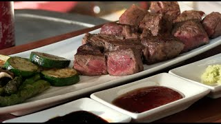 Teppanyaki Steak Recipe (Morgan Ranch American Wagyu)
