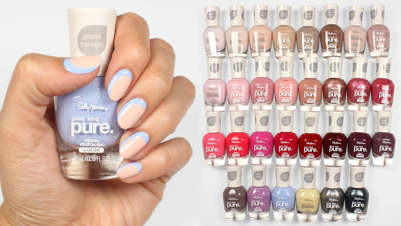 Sally Hansen Good Kind Pure Full Collection Swatches Nail Art