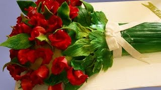 Торты-букеты: красивое оформление(Чудо из чудес! Это не просто живые букеты - это торты-букеты от Надежды Карманцевой. Ими можно не только любо..., 2013-12-18T15:52:47.000Z)