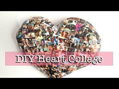 DIY Paper Mache Heart Collage (Wall Decor)