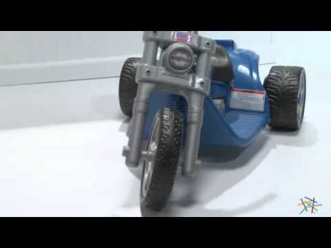 Fisher Price Battery Powered POWER WHEELS Harley Davidson Riding Toy Blue - Product Review Video
