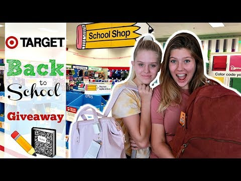 Back To School HAUL and GIVEAWAY!! Taylor & Vanessa