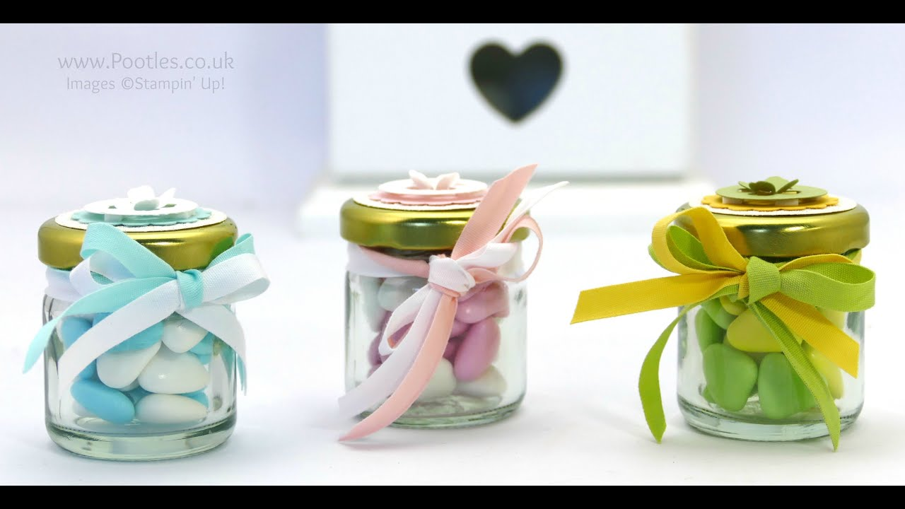 Adorable Shower/Favour Jars Tutorial - YouTube