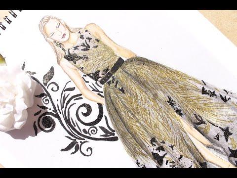 Fashion Illustration - Elie Saab haute couture fall 2016 | Nina Mid Illustrations