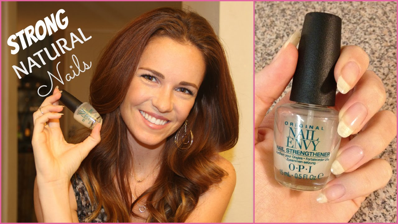 How To Grow LONG & STRONG Natural Nails - OPI Nail Envy Review - YouTube