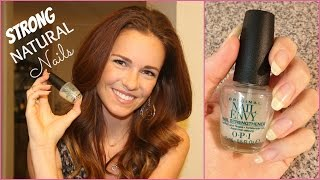 How To Grow LONG & STRONG Natural Nails - OPI Nail Envy Review