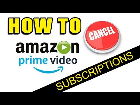 How To Cancel Amazon Prime Video CHANNEL SUBSCRIPTIONS