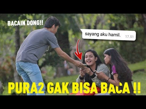 SURUH ORANG BACAIN CHAT - ISINYA KONYOL BANGET   Prank Indonesia