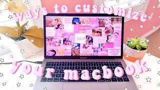 macbook customization + organization tips/tricks *MUST DO*