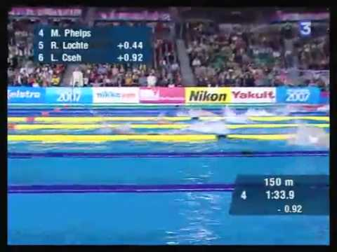 200m IM Final - World Championship Melbourne 2007 (Michael Phelps WR)