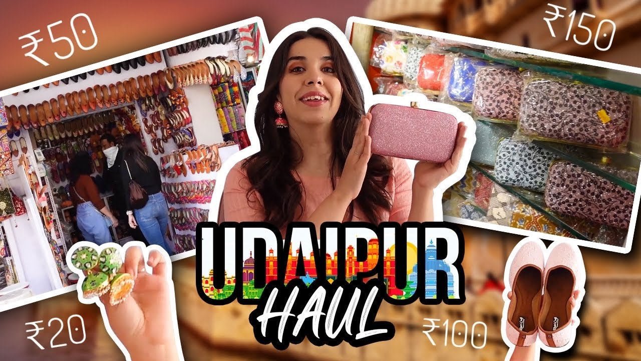 I BOUGHT 40+ items from UDAIPUR local market | HUGE Accessories haul under ₹320  | Heli Ved
