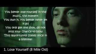 Eminem top 10 best songs ever (2013) hd