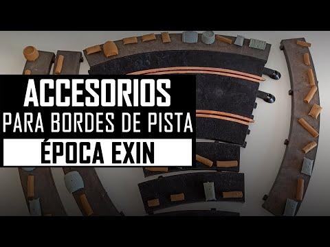 🔎 ACCESORIOS para BORDES de PISTA de EXIN 【Reliquias】 Scalextric Años 60