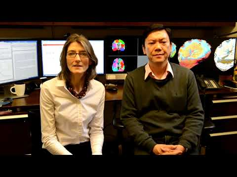 Friedman Brain Institute Research Scholars Sarah Stanley, PhD and Cheuk Ying Tang, PhD