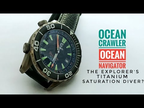 Ocean Crawler Ocean Navigator Review - The Explorer's Titanium Diver? | Armand The Watch Guy