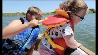 BABY tries to jump off boat!